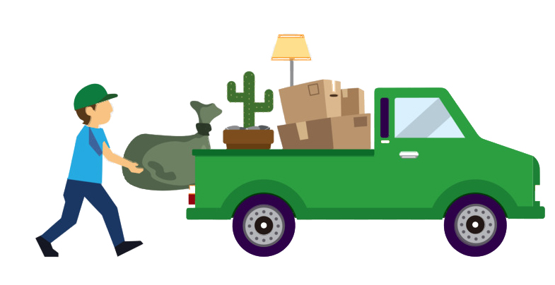 Image showing a delivery truck doing a pickup